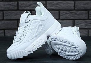 Женские кроссовки в стиле Fila Disruptor 2(II) White, фото 3