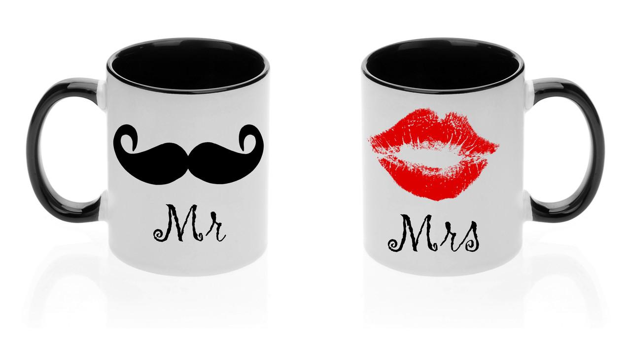 "Парные чашки ""Mr. и Mrs."""