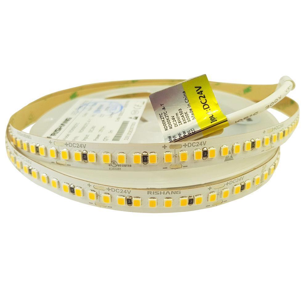 Тепло белая светодиодная лента 2835-192-IP20-WW-10-24 2700K RD00K2TC-A CRI90 18Вт 24вольт  Рішанг 9778