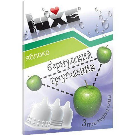 Презервативы Luxe Бермудский Треугольник с ароматом яблока - 3 шт, фото 2
