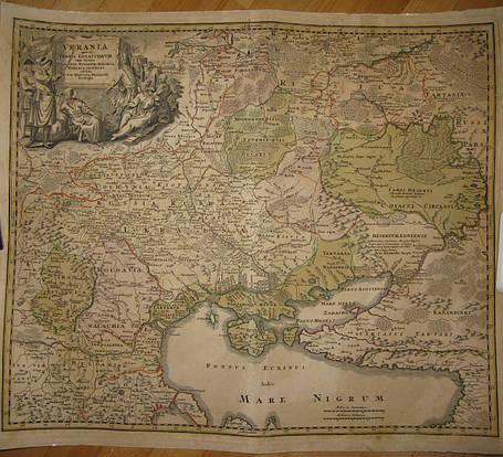 Карта  Україна Козацька Республіка  поч. XVIII ст.., фото 2