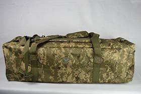 Воєнна дорожня сумка-рюкзак транспортна індивідуальна CARGO на 46 літрів (український піксель, цифра ЗСУ)