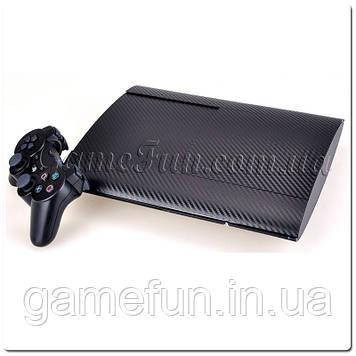 PS3 виниловые наклейки карбон (black)