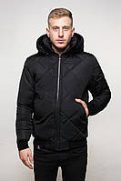 Мужская зимняя куртка стеганая черная