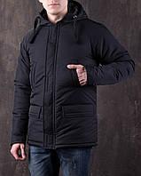 Мужская зимняя куртка черная, фото 1