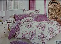 Сатиновое постельное белье евро ELWAY 4182