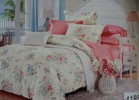 Сатиновое постельное белье евро ELWAY 4185