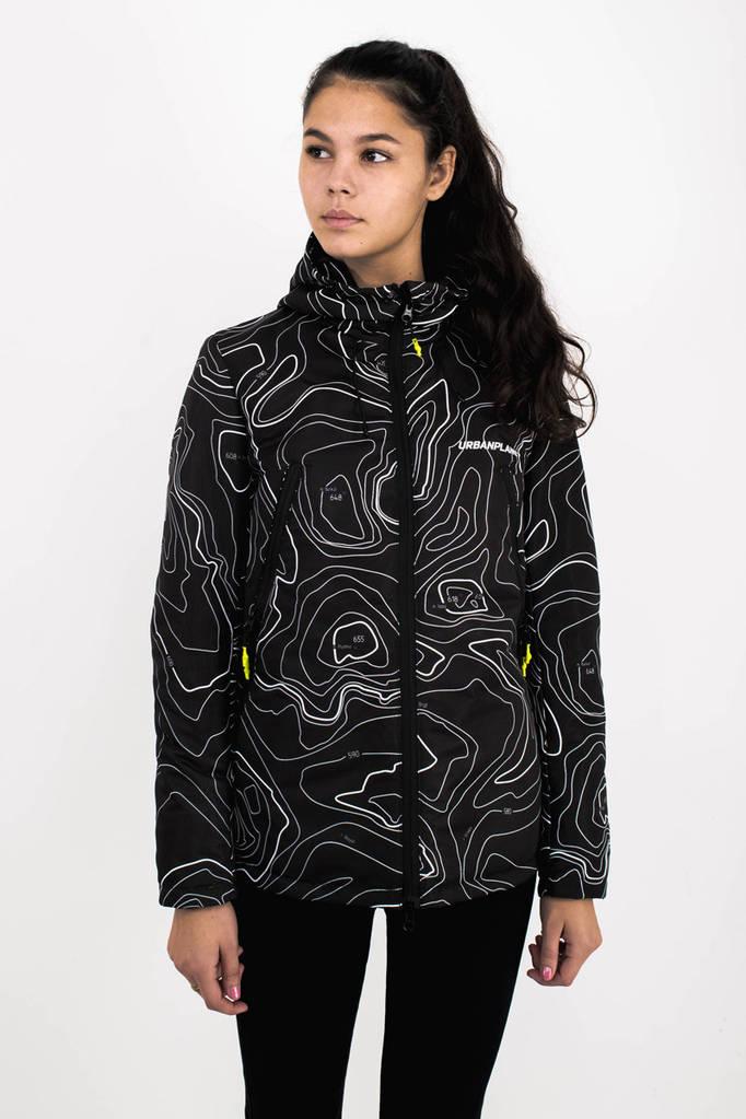 Куртка женская AW3 BLK/MAP Urban Planet XL 100% полиэстер Multicolor UP 2-1-2-12