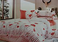 Сатиновое постельное белье евро ELWAY 4178