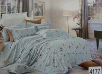 Сатиновое постельное белье евро ELWAY 4177