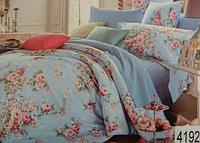 Сатиновое постельное белье евро ELWAY 4192