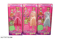 Кукла типа Барби Беременная 116-17 60шт 3вида,с куколкой,платьями,чемоданом в кор.145,532см