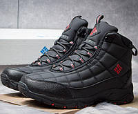 128d4c8f0c1a Мужские ботинки зимние Columbia Waterproof, внутри мех, черные, Коламбия  2018