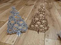 Елка новогодняя настольная деревянная