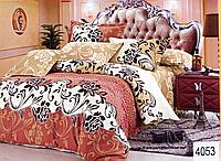 Сатиновое постельное белье евро ELWAY 4053