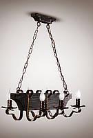 Люстра деревянная, 6-ти ламповая трактир