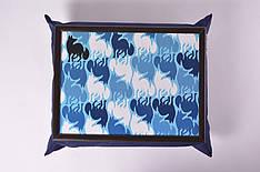 Поднос на подушке Синий лис