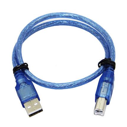 5pcs 30CM Синий USB 2.0 Тип A мужчина до Тип B Мужской кабель передачи данных силы для Arduino - 1TopShop, фото 2