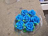 """Набір """"Троянда середня (Синя) 7шт"""", фото 2"""