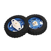 Пара 47 мм резиновых колес для шаговых двигателей DC Motors Arduino Smart Robot Accessories 1TopShop, фото 3