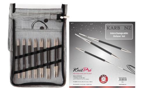 Набор съемных спиц Deluxe Karbonz KnitPro