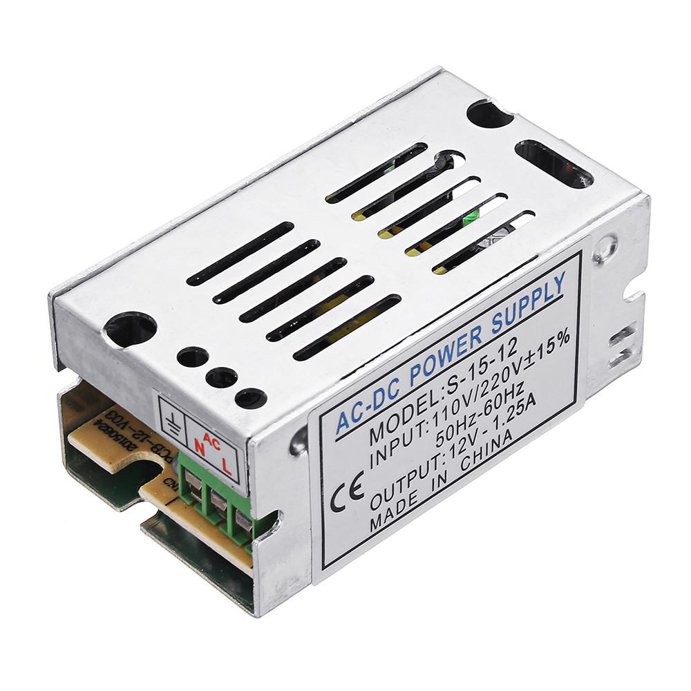 AC110V / 220V для DC 12V 1.25A 15W Switch Power Supply Lighting Transformer Adapter для LED Strip Light - 1TopShop