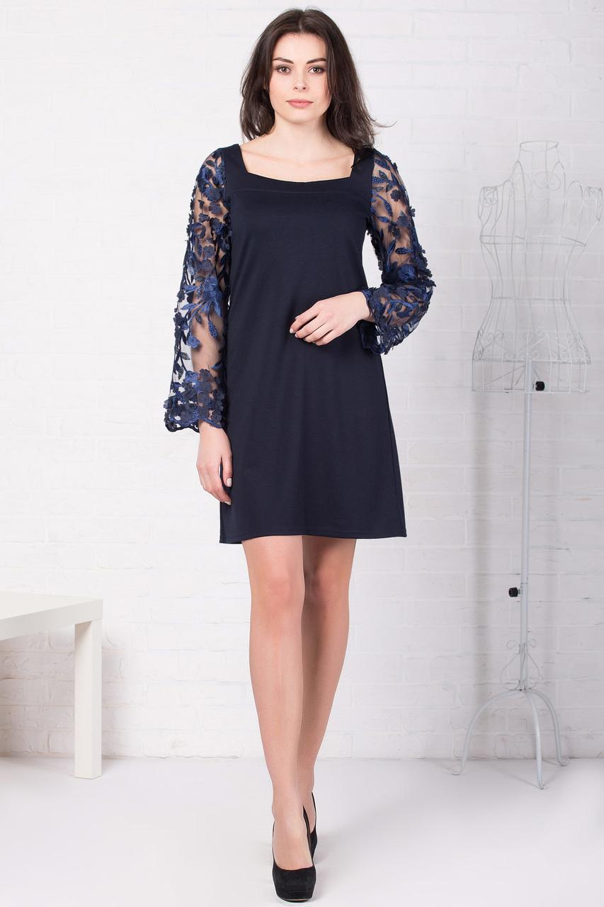 Вечернее платье JOLIE с кружевными широкими рукавами и квадратным вырезом горловины