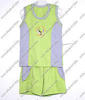 Гр а.22.b.0743.р.68 /салатовый с серыми вставками/ м.К-т тениска комб. с бриджами