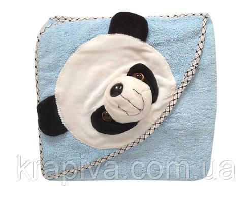 Полотенце уголок для купания, простынь детская голубой