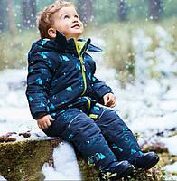 Зимний термокомбинезон Topolino для мальчика  86 и 92 см сдельный синий