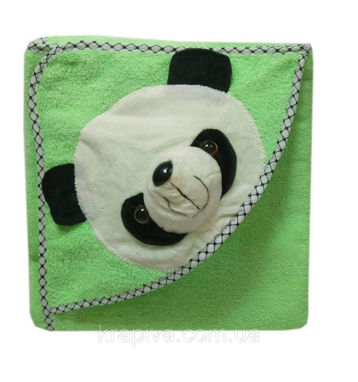 Полотенце уголок для купания, простынь детская зеленый