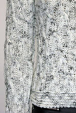 В'язаний светр  меланж  в пяти кольорах , фото 3