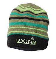 Шапка вязаная  Norfin FROST (подкл.флис / DG в полоску)