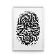 Постер на стену Fingerprint