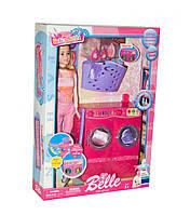 Мебель для куклы Ванная комната прачечная, стиральная машина, аксессуары, JX600