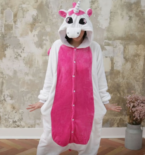 Пижама кигуруми Единорог розовый с крыльями (S)  продажа 4e3fc30d49cb3