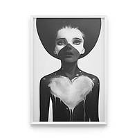 Постер на стену White heart
