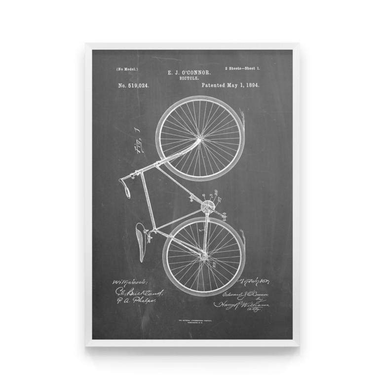 Постер на стену Bicycle scheme