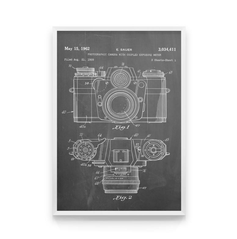 Постер на стіну Camera scheme