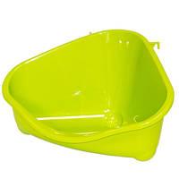 Туалет Moderna Pets Corner для грызунов угловой, 49х34.6х26 Салатовый