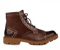 Оригинальные мужские ботинки Timberland Earthkeepers Oxford High Espresso(Тимберленд) - коричневые