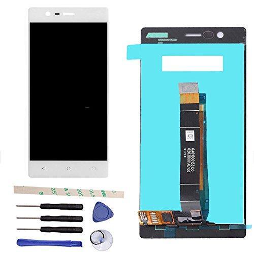 Дисплей для Nokia 3 Dual Sim (TA-1032) с тачскрином белый Оригинал