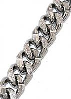 Браслет с рифлением фирмы ХР, цвет -серебряный. Длина: 17,5 см. Ширина 8 мм.