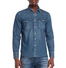 Джинсовая рубашка Levis Denim Western - Tint Mid (S)