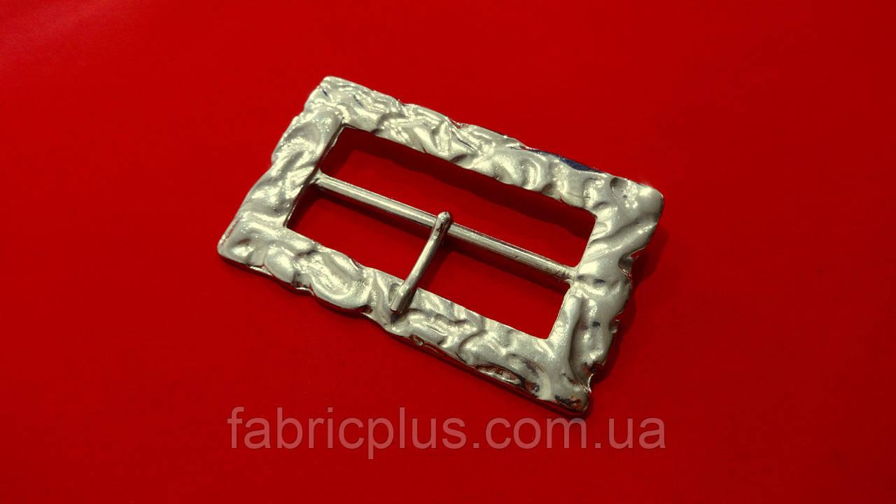 Пряжка застежка 60 мм металл, никель