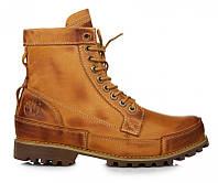 Оригинальные мужские ботинки Timberland Earthkeepers Rugged High Classic Yellow (Тимберленд) - коричневые