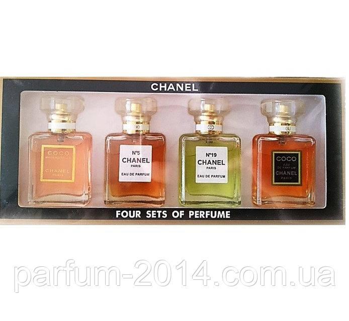 Женский подарочный набор духов Chanel 4 по 20 мл (4 в 1) (реплика)