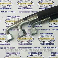 Рукав высокого давления РВД S24 (М20 х 1,5) L-0,4 м с углом 90 градусов ( Н.036.83 (давление-160 Бар) )