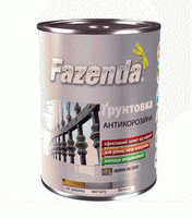Грунтовка антикоррозионная ГФ-021 Fazenda алкидная красно-коричневая 0.9 кг
