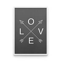 Постер на стену Love на сером фоне